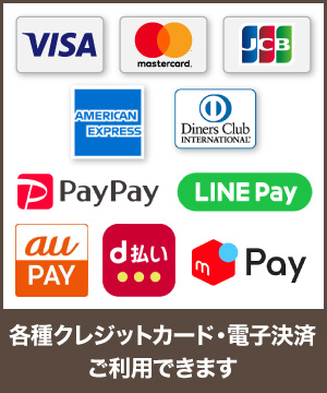 クレジットカード各種、電子マネー決済(PayPay・LINE Pay)でのお支払いに対応しました!